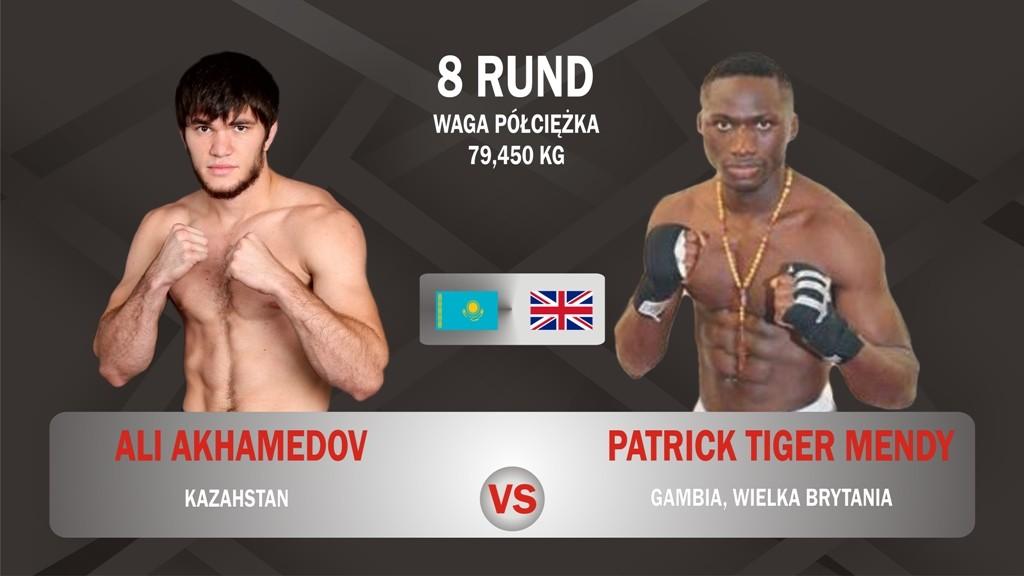 Walka AKHMEDOV vs PAatrick Mendy 6 walka